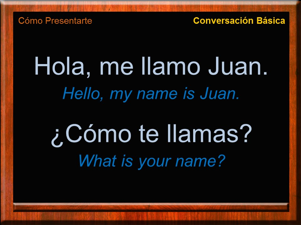 meeting someone in spanish