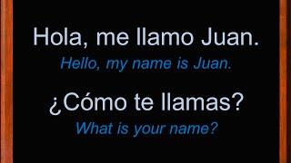 Basic Conversation in Spanish | Introduce Yourself in Spanish | Spanish Conversation | Learn Spanish