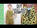 DIY Corset Back Romper | The Style Pile #13