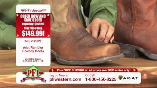 Ariat Rambler Cowboy Boots and Rambler Work Boot