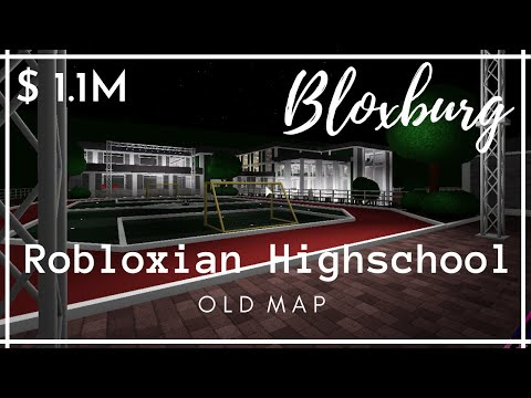 Robloxian Highschool Old Map Recreating Robloxian Highschool Old Map In Bloxburg Tour Roblox Youtube