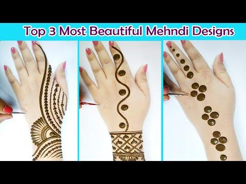 3 Most Beautiful Mehndi Design frm Dots - गोल टिक्की मेहँदी सीखने का सरल तरीका- Stylish Mehandi