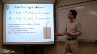 How to determine the axial load capacity of a driven concrete pile
