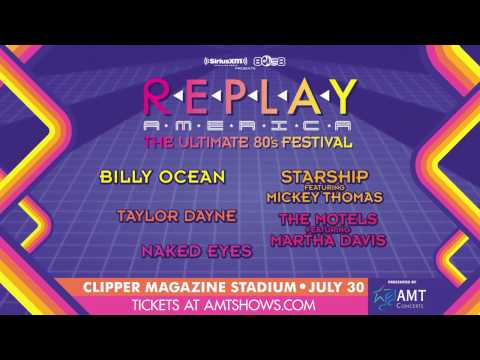 Replay America: The Ultimate 80's Festival at Clipper Magazine Stadium on July 30