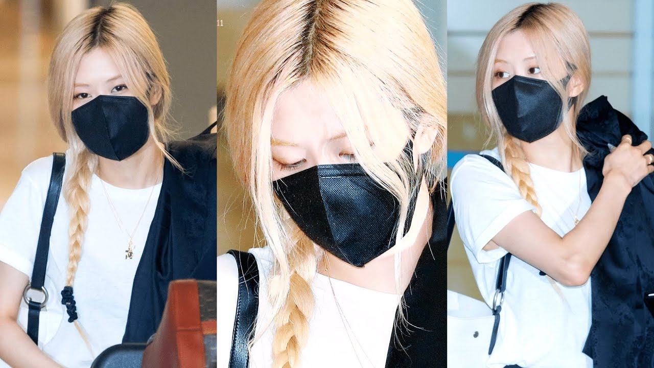 BLACKPINK ROSÉ at Incheon Airport in South Korea, but Jennie stay in US!