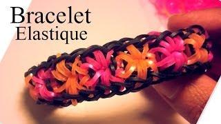 Comment faire un bracelet élastiques et fleurs sans machine