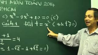 Giải đề thi tuyển sinh môn Toán vào lớp 10 TPHCM năm 2014.