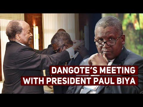 Nigerian Billionaire Aliko Dangote's Meeting With President Paul Biya | Investing in Oil and Ga