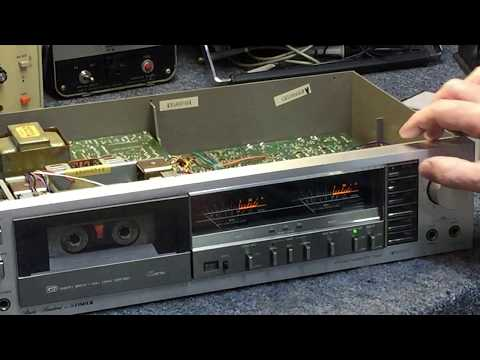 Fisher DD-350 cassette deck - PB/REC/Speed Tests & Interior