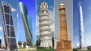 أطول 10 أبراج مائلة في العالم |  منها منارة الحدباء و كابيتال جيت ....