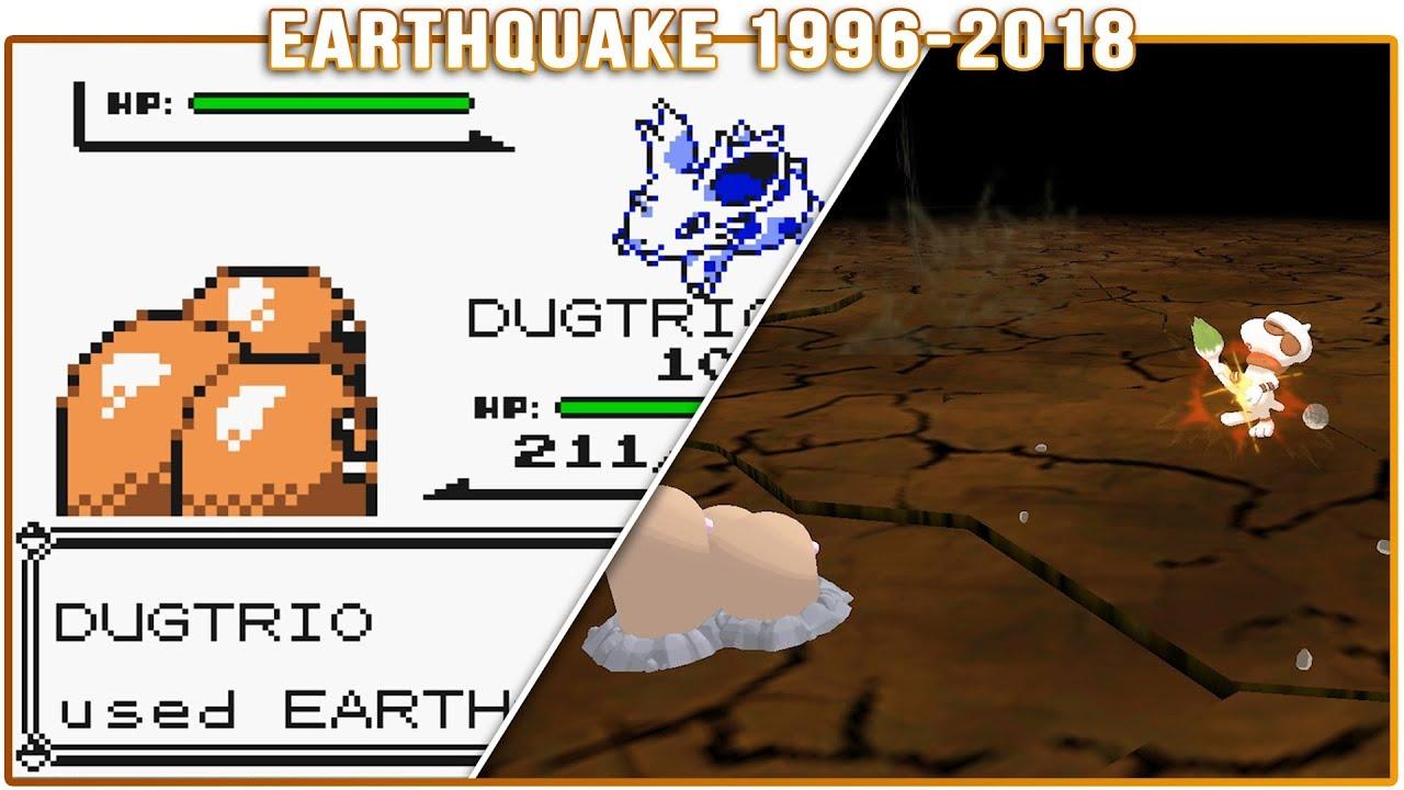 Evolution of Earthquake - Pokémon Moves (1996-2018)