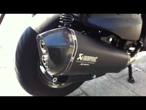 yamaha xmax 400 akrapovic youtube. Black Bedroom Furniture Sets. Home Design Ideas