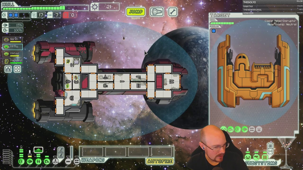 FTL no pause, hard mode streak attempts! 2 wins into Fed C! #1