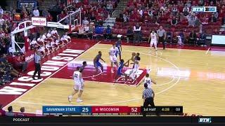 Highlights: Savannah State at Wisconsin | Big Ten Basketball