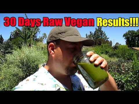 Amazing Results After 30 Days Raw Vegan!!!