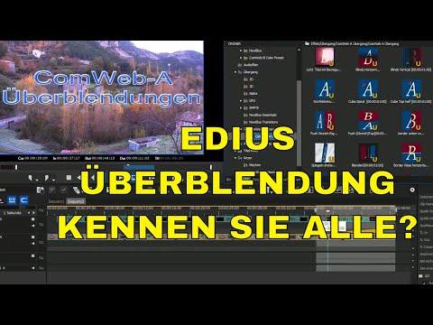 Neue vorhandene Blenden für EDIUS 9 - 8-7-6-5-4-3 deutsch