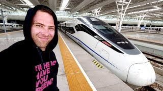 Chinese BULLET TRAIN Business Class REVIEW to Shanghai + Chinese Food Lunch | Suzhou to Shanghai