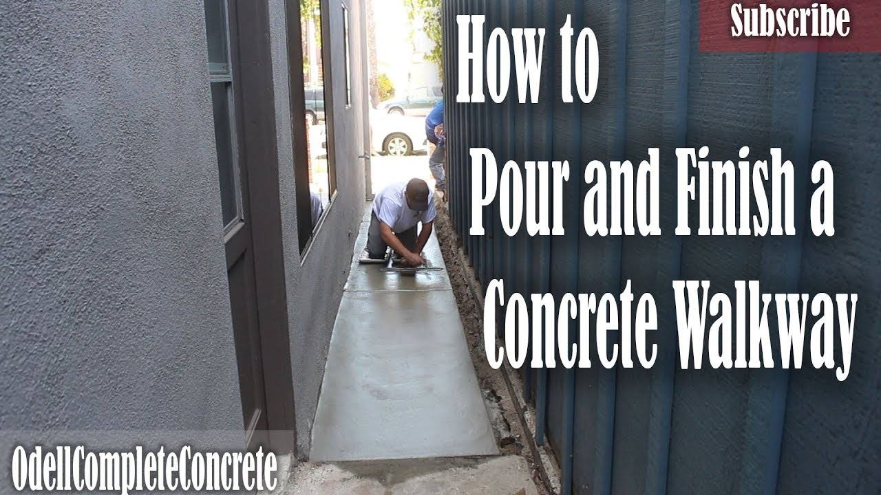 How To Pour And Finish A Concrete Side Yard Walkway