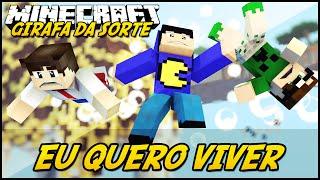 Minecraft: GIRAFA DA SORTE - EU QUERO VIVER! #2 (Lucky Block Mod)