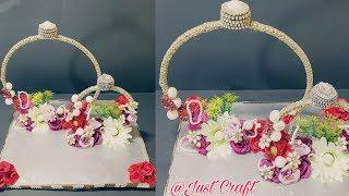 DIY Engagement Ring Platter | Engagement Ring Tray Decoration Ideas | Engagement Thali | Just Craft