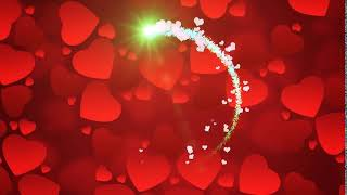 Футаж Сердца и Светящийся Луч видео фон для слайд шоу