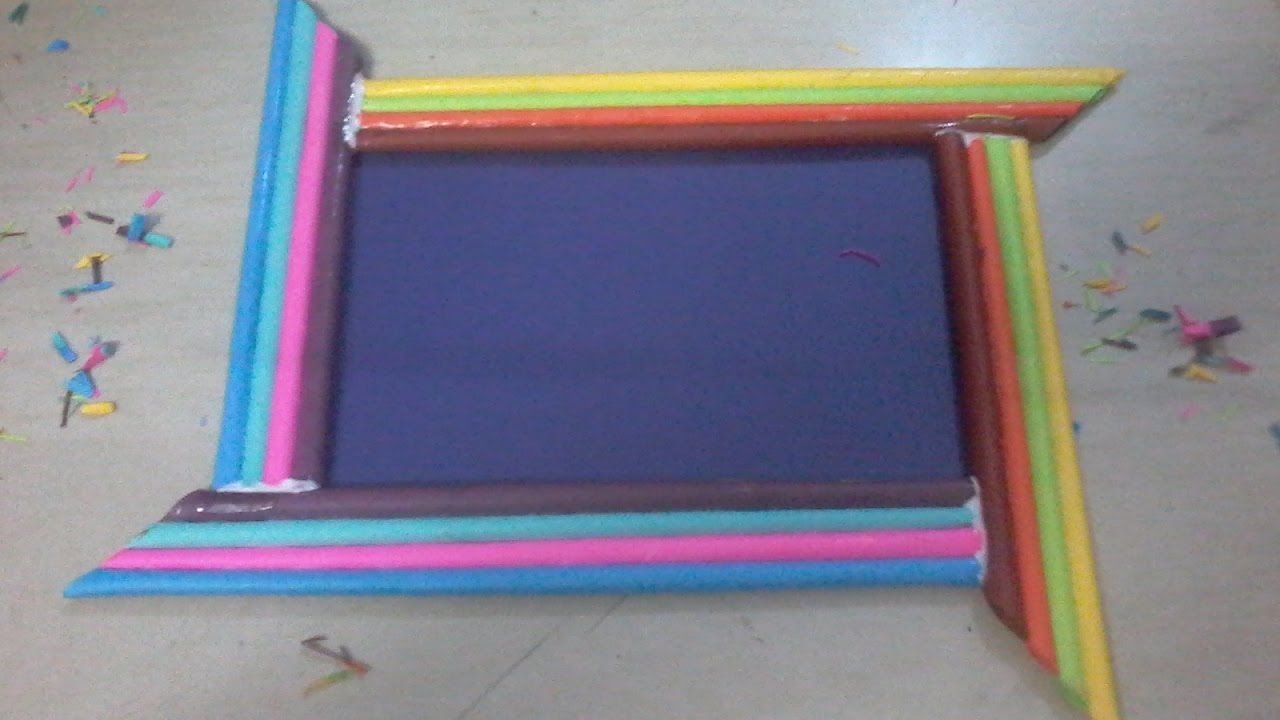 DIY How to make photo frame using color paper rolls