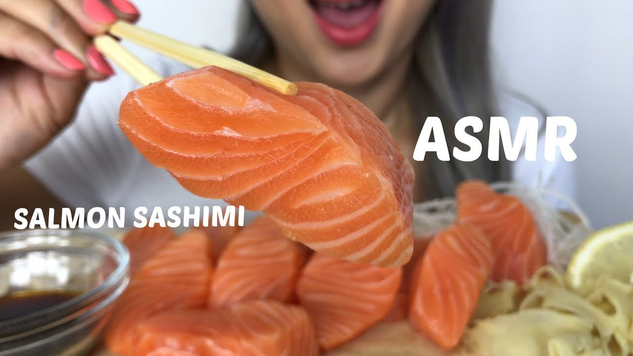ASMR [ Salmon Sashimi ] Eating Sound | NO Talking | N.E Lets Eat