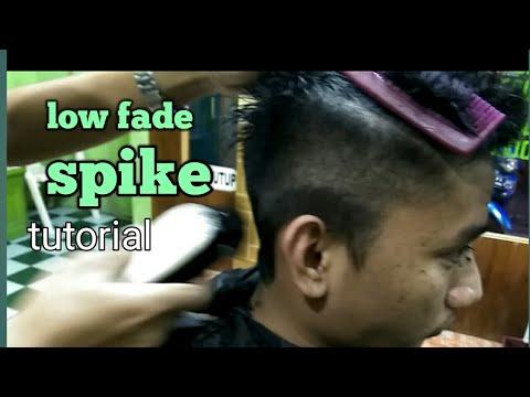 Low fade with spiky haircut-gaya rambut spike
