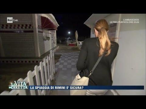 """Rimini, violentata sulla spiaggia: """"Saprei riconoscere il branco"""" - La Vita in Diretta 29/08/2017"""
