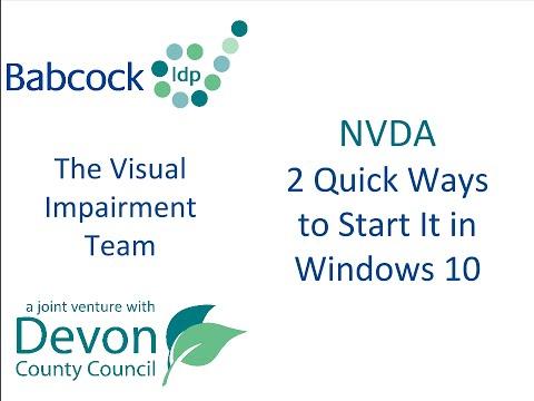 NVDA: 2 Quick Ways to Start It in Windows 10