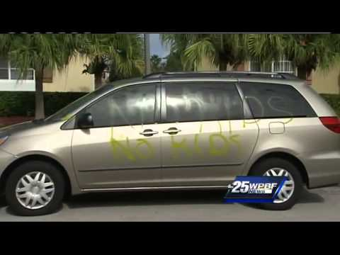 'No kids' spray-painted on man's car, minivan at 55-and-older community