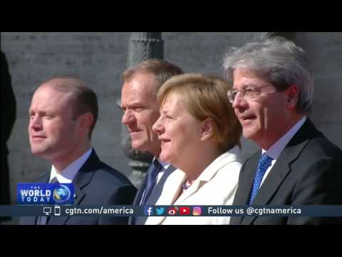 European leaders gather in Rome to celebrate Treaty of Rome 60th anniversary