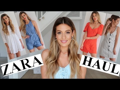 HUGE  ZARA HAUL UNBOXING TRY ON AND GIVEAWAY