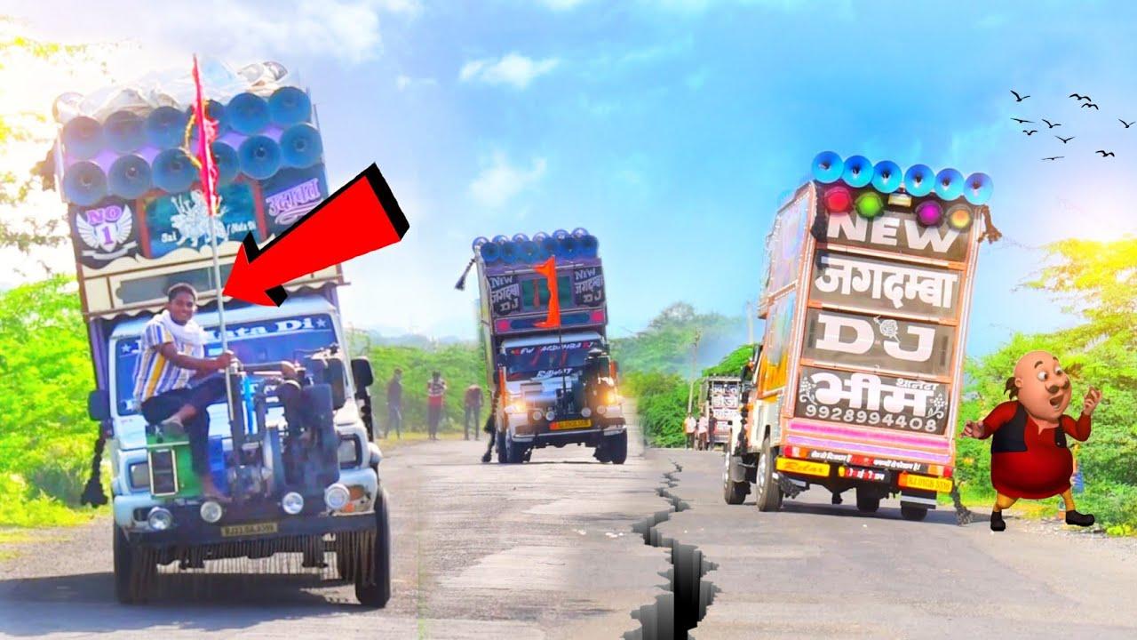 रोड पर आतंक - Udawat DJ // Shivlahri DJ // Jagdamba Dj // DJ pickup Stunt With EDM Trance Music