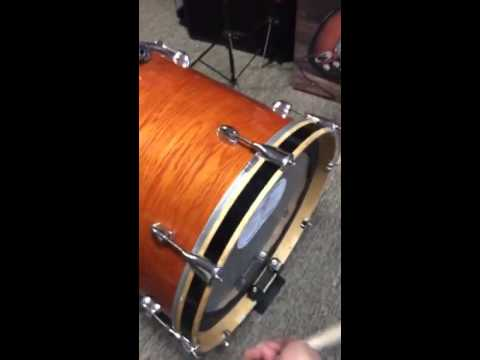 18 inch yamaha floor tom bass drum first try youtube. Black Bedroom Furniture Sets. Home Design Ideas