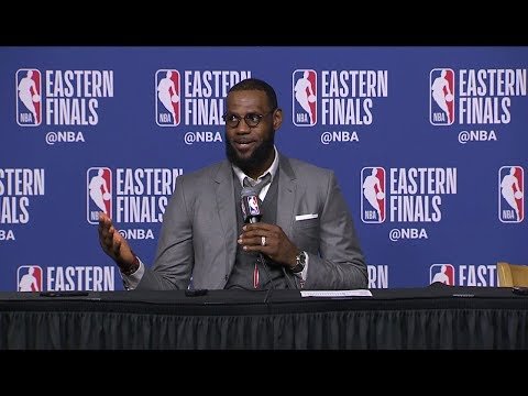 LeBron James Postgame Interview - Game 1 | Cavaliers vs Celtics | May 13, 2018 | 2018 NBA Playoffs