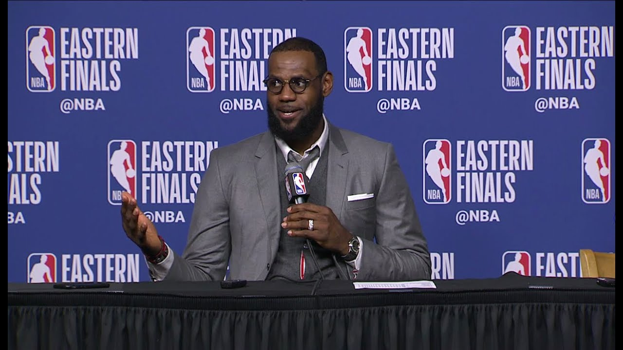 f5dd6d7293a LeBron James Postgame Interview - Game 1