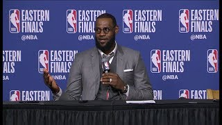 lebron james postgame interview game 1 cavaliers vs celtics may 13 2018 2018 nba playoffs