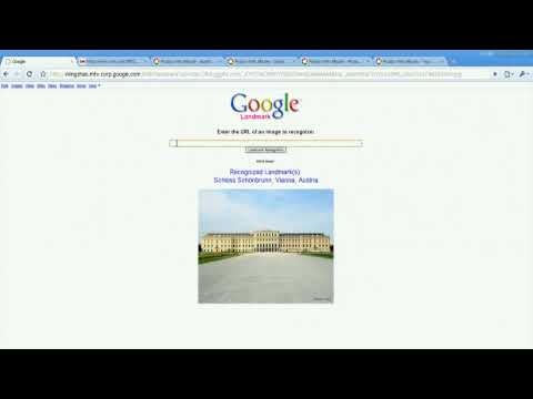 Live recognition of landmarks in images