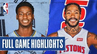 GRIZZLIES at PISTONS | FULL GAME HIGHLIGHTS | January 24, 2020