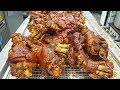 Fried Braised Pig's Trotters, Spicy Braised Pork Trotters (Jokbal) - Korean Food / 튀김족발, 매운족발
