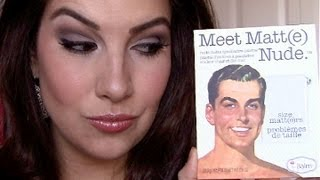 The Balm Meet Matt(e) Nude Palette Review
