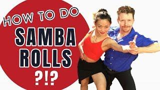 How To Dance Samba Roll Footwork - Latin Dance Tutorial