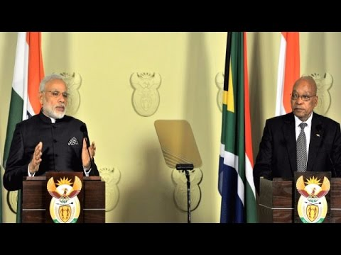 PM Narendra Modi Meets South Africa's Zuma for Trade Talks