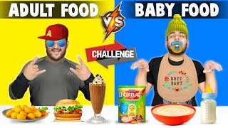 ADULT FOOD VS BABY FOOD EATING CHALLENGE | Funny Food Eating Competition | Viwa Food World