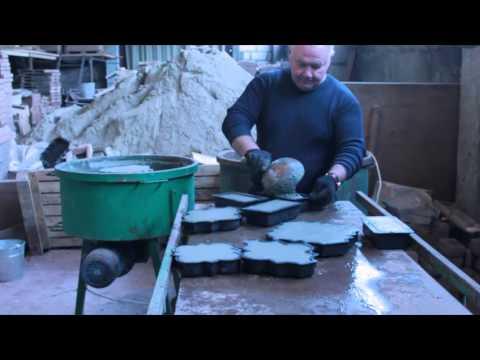 видео: Производство тротуарной плитки и брусчатки+paving slab+stone