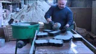 Производство тротуарной плитки и брусчатки+paving slab+stone(Подробнее на сайте www.retro-stone.ru Мы показали, как правильно изготовлять качественную тротуарную плитку и брус..., 2015-01-22T09:22:06.000Z)