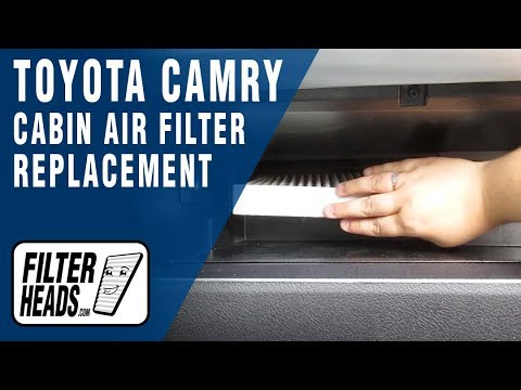 how to replace cabin air filter 2016 toyota camry -