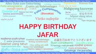 Jafar   Languages Idiomas - Happy Birthday