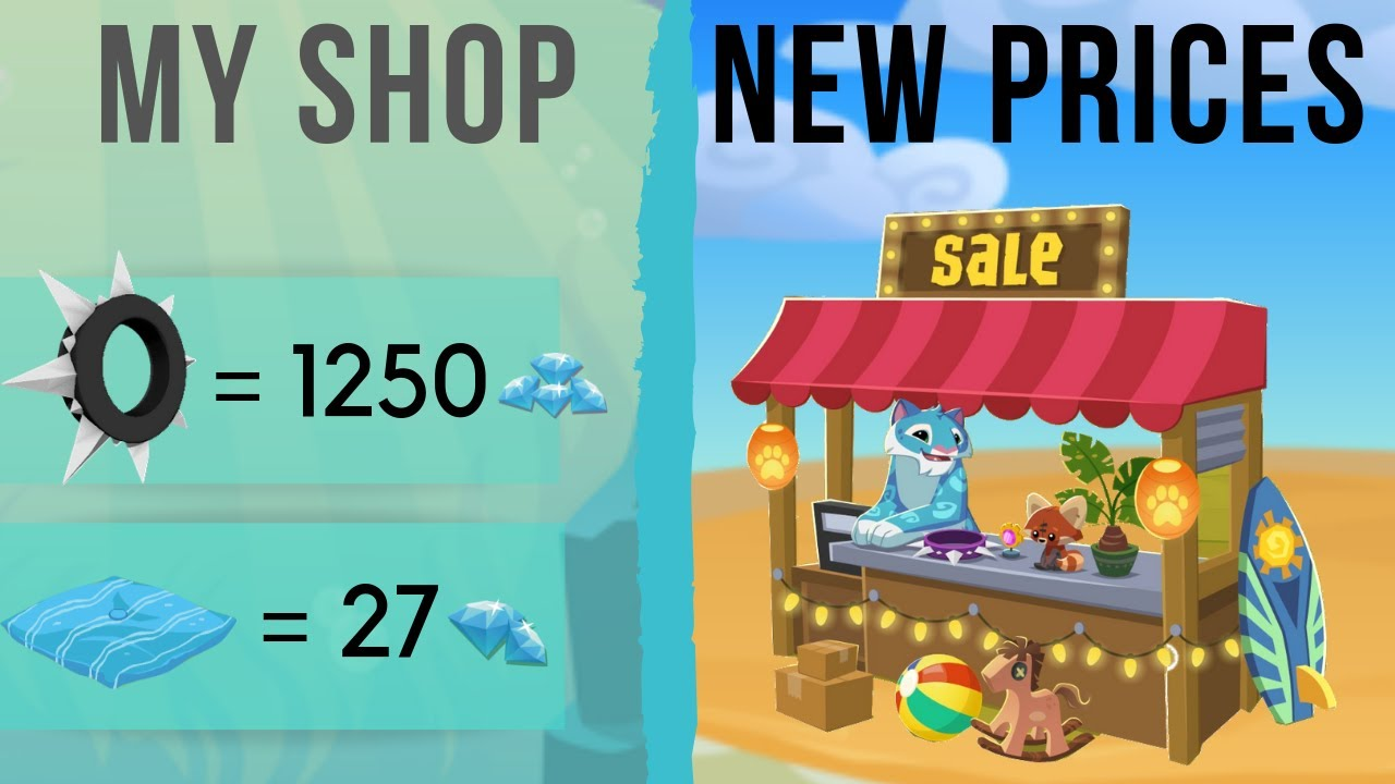 AJ Spikes & Betas Worth in Diamonds For My Shop // New Animal Jam Pricings  for My Shop